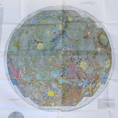 Geologic Map of the Near Side of the Moon 1-703 by Wilhelms and McCauley 1971
