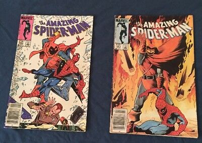 Amazing Spiderman 260-261 Rare Canadian Price Variant F/VF