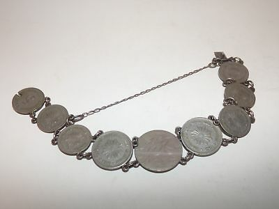 Antique Coin Bracelet-Engraved 1907-Uraguay 1901-Centesimos-Nr