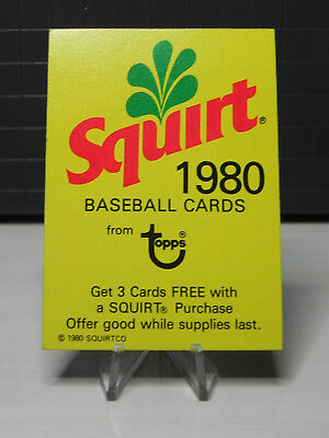 Squirt Soda 1980 Baseball Cards
