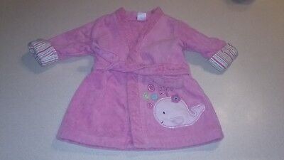 0-9 months baby girl pink robe
