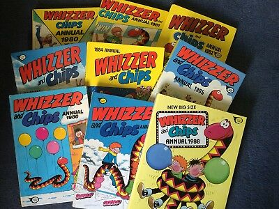 Whizzer and Chips Annuals 1980-1988