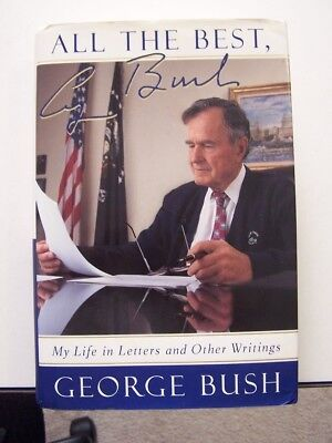 President George H W Bush signed All The Best autograph signature