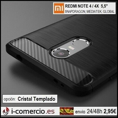 Funda Carcasa TPU Carbono Carbon Tough Rugged Case Xiaomi Redmi Note 4 / 4X 5.5""