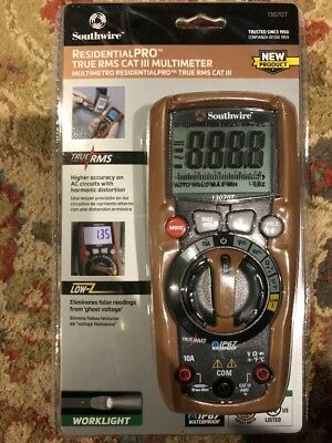 Southwire ResidentialPro True RMS Cat III Multimeter - (Model 13070T) *New*