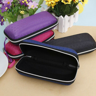 Portable Travel Zipper Sunglasses Hard Case Protector Eye Glasses Box 5 Colors