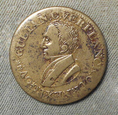 Hard Times HT-30 Low-16 Brass R-2 Gulian C. Verplanck, Political: CE 1834-4