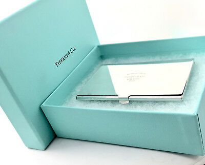 Please Return To Tiffany & Co. Sterling Silver Business Card Case Holder 18712E