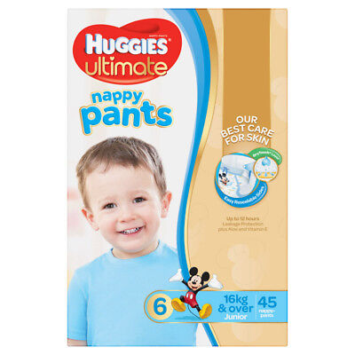 Huggies Ultimate Nappy Pant - Jumbo - Junior - Boy - Size 6 - 45 Pack