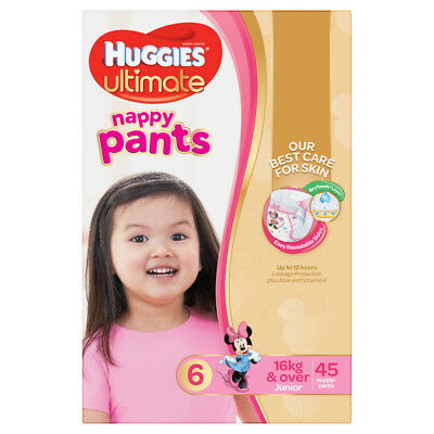 Huggies Ultimate Nappy Pant - Jumbo - Junior - Girl - Size 6 - 45 Pack