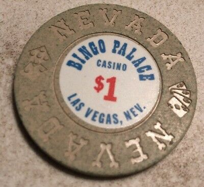 Bingo Palace $1 Casino Chip Las Vegas Nevada 2.99 Shipping