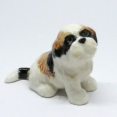 Small Dog Shih Tzu Ceramic Figurine Gift for Dog Lovers Collectible