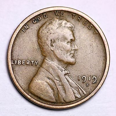 1919-S Lincoln Wheat Cent Penny LOWEST PRICES ON THE BAY!  FREE SHIPPING!