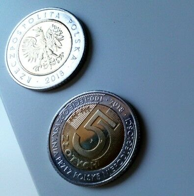Poland 5 Zlotych  2018 Commemorative Coin 100 Years of Independence