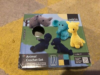 Animal Crochet Set - Grey Wool Kit