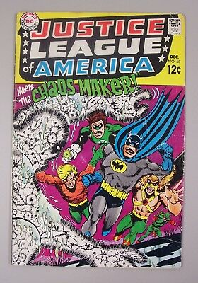 Justice League of America #68(DEC 1968) Aquaman! Batman! Superman! DC Silver Age