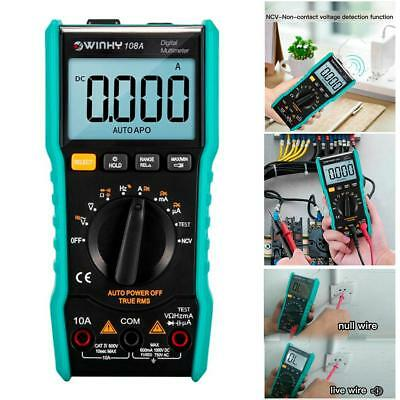 WINHY LCD Digital Multimeter Auto Range AC DC Voltage Current Multi Meter Tester