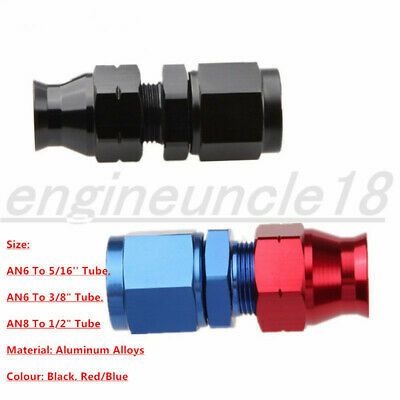 "Aluminum AN6 AN8 Female To 5/16"" 3/8"" 1/2"" Tube Fitting Hard Line Adapters"