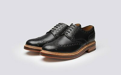 Brand New Mens Grenson Archie Gibson Brogue's Colour Black Size Uk 11 Width G