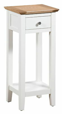 Small Off White Painted Oak Console Table | Wood Hall Side/End/Telephone Stand