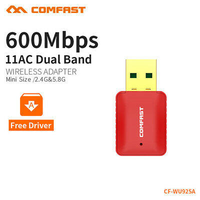 COMFAST 600Mbps DualBand 2.4G/5G WLAN Wireless Adapter 802.11AC Stick for PC
