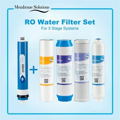 5 PCS Filter kit Fit APEC Top Tier 5-Stage RO Water System (ESSENCE ROES-50) New