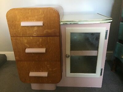 Mid Century 1940's Vintage Ships Cabin Cabinet & Drawers