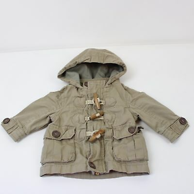 Next - Boys Coat 3-6 Months Green Good Condition Fast Ship UK