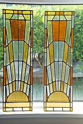 2 x Beautiful Stained Glass Panels