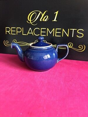 Denby Classics Blue Small 0.75 Pint Teapot None Drop Spout