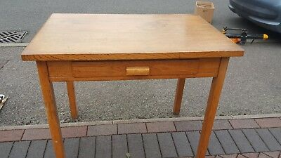 oak table/writing desk with central drawer