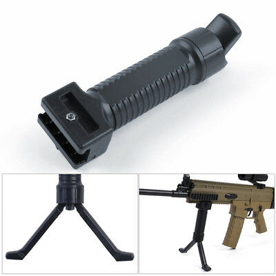 2 Tactical Bipod Vertical Hand Fore Grip Foregrip Fit Picatinny Weaver Rail 20mm