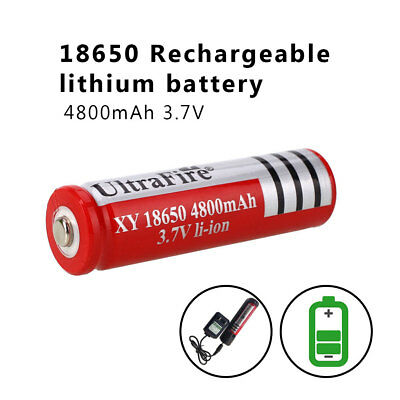 1/2/4pcs 4800mAh 3.7V 18650 Rechargeable Li-on Battery for Flashlight Torch