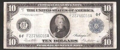 Rare Atlanta Type-A 1914 $10 Large Federal Reserve Note