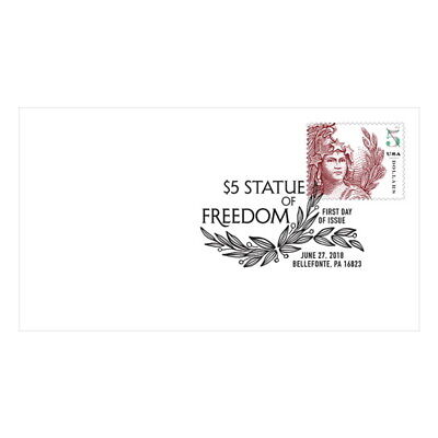 USPS New $5 Statue of Freedom First Day Cover