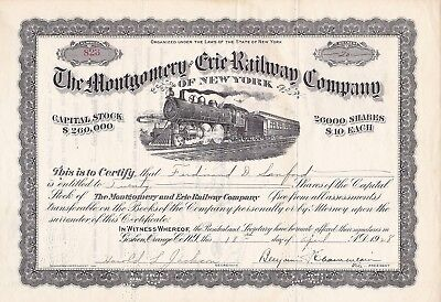 Montgomery and Erie Railway 1926