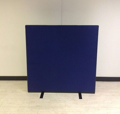 1200W x 1200H Blue Woolmix PanelWarehouse Office Screen Divider Partition