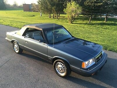 1986 Dodge 600 ES CONVERTIBLE Great One-owner, low mileage 600 ES Convertible