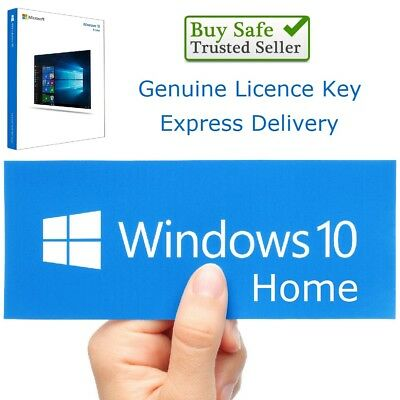 Microsoft Windows 10 Home 32/64bit Genuine License Key Product Code