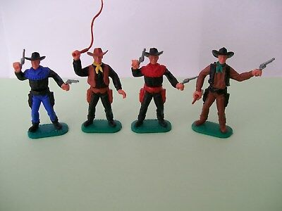 timpo cowboys painted with quality hobby paint in good condition andlook great