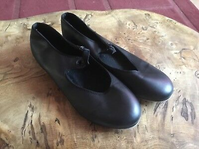 Ladies tap shoes black  size 6 toe and heel