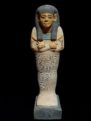 Rare Antique Egypt Ancient Egyptian Shabti Large Ushabti Statue Luxor Stone Bc