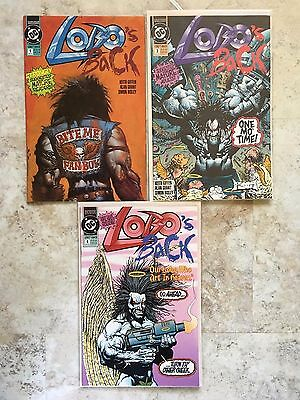 LOBO'S BACK #1 3 4  1992 DC Comics  HIGH GRADE 9.6/9.8  Simon Bisley Alan Grant