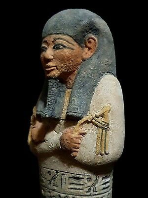 Rare Ancient Egyptian Antique Ushabti Of King Pharaonic Statue Luxor Stone Bc