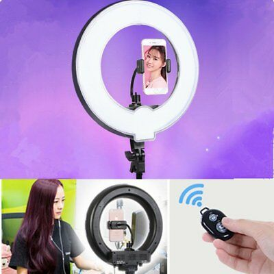 "14"" 5500K Dimmable LED Ring Light for Beauty Photo Makeup Live Selfie Studio"