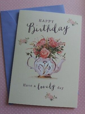 HAPPY BIRTHDAY LADIES GIRLS CUTE FLORAL CARD FREE NEXT DAY DELIVERY 7 X