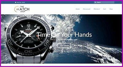 LUXURY WATCHES Website $1,281.84 A SALE FREE Domain FREE Hosting FREE Traffic
