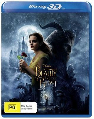 Disney Beauty And The Beast 1-Disc 3D Bluray Region Free ABC New
