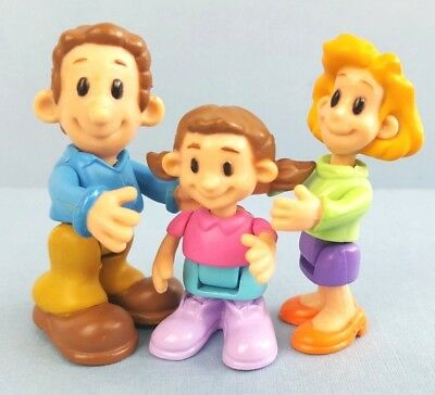 Happy Family Unit Set Of 3 Adorable Play Figures Mum Dad Daughter 5-6cm Tall