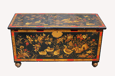 A Very Pretty Decorative Japanese Lacquered Coffer Chest